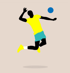 Stylish a volleyball player vector