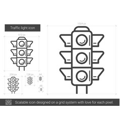 Traffic light line icon vector