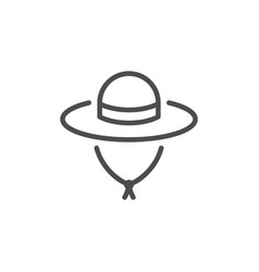 travel hat line icon vector image