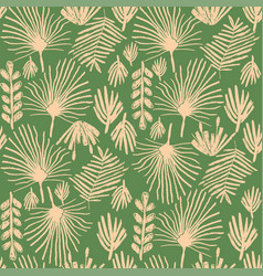 tropical greenery flower duotone seamless pattern vector image