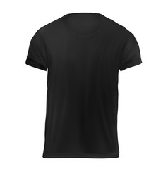 Un black mens t-shirt vector