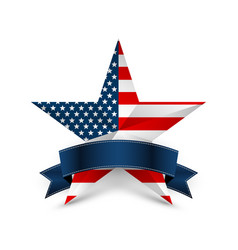 usa star in national colors america vector image