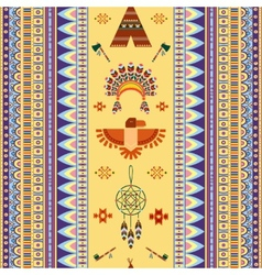 Vintage tribal ethnic seamless pattern for vector