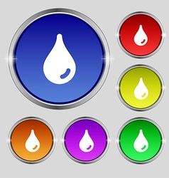 Water drop icon sign Round symbol on bright vector image