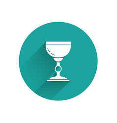 White jewish goblet icon isolated with long shadow vector