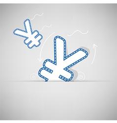 Yen Money icon design on background vector