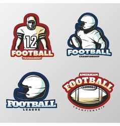 American Football Tournaments Logos vector image vector image