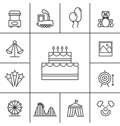 Birthday and celebration icons vector image
