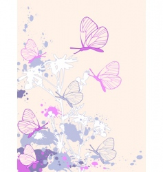 colored abstract floral background vector image