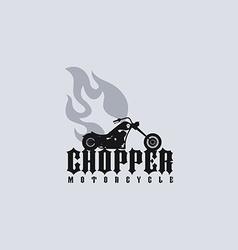 Fire chopper motorcycle vector