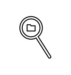 folder search icon vector image vector image