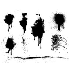 grunge paint splats vector image vector image
