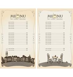 menu pavement vector image