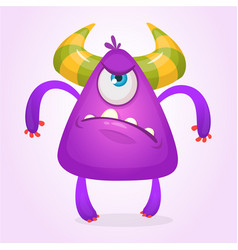 cartoon angry monster vector image