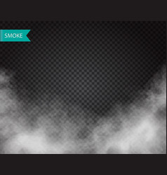 Clouds or smoke on transparent background vector