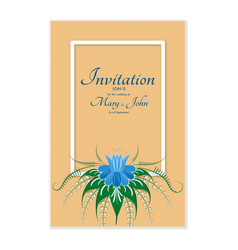 greeting card with stylized flowers can be used vector image vector image