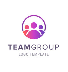 team group logo template creative people logo vector image