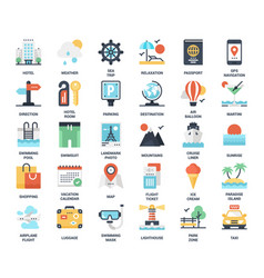 travel and vacation vector image
