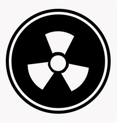 Warning colorless round sign of radiation on white vector