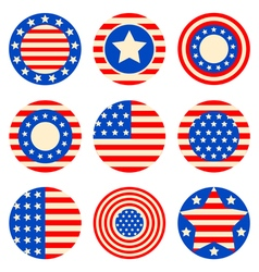 american flags vector image