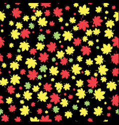 Autumnal maple leaves seamless pattern vector