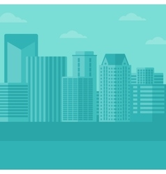 Background of modern city vector image vector image