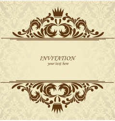 Background with damask pattern vector image vector image