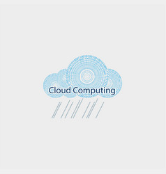 computer cloud drawn from the figures vector image