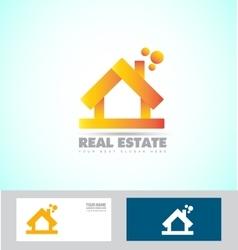 House 3d real estate logo icon vector image vector image