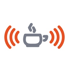 wifi cup icon vector image
