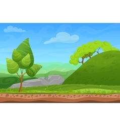 Cartoon color nature spring summer landscape in vector image vector image