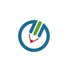 Colorful Pencil Logo vector image vector image