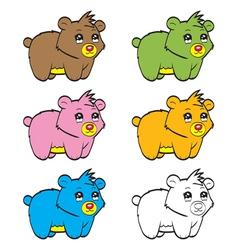 Cute cartoon baby bear vector image vector image