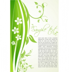 floral background with sample text vector image vector image