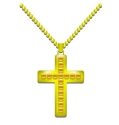 Golden Cross vector image