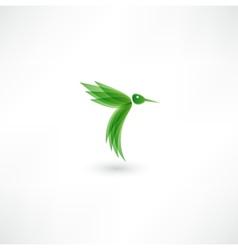 Hummingbird icon vector image