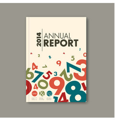 modern abstract annual report design template vector image vector image