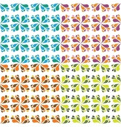 seamless drop patterns vector image vector image