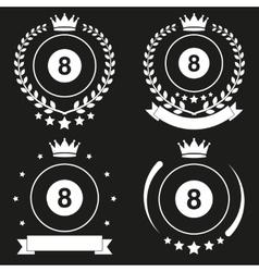 Set of Vintage Billiard Club Badge and Label vector image vector image