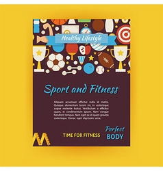 Sport and Fitness Template Banner Flyer Modern vector image vector image