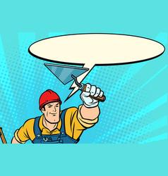 superhero builder professional comic bubble vector image