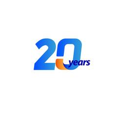 20 years anniversary celebration template design vector