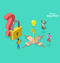 3d isometric flat concept finding vector image