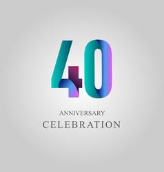 40 year anniversary celebration template design vector