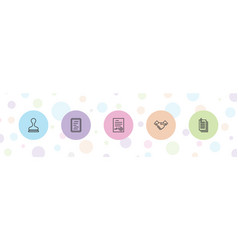 5 contract icons vector
