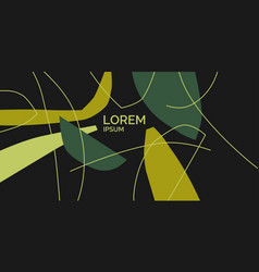 a composition with abstract elements in a popular vector image
