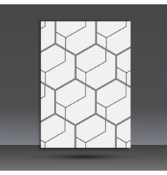 abstract hexagon set vector image