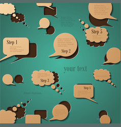 Abstract paper speech bubble in a shape vector