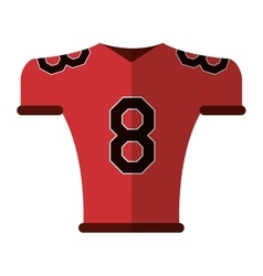 american football jersey uniform tshirt vector image