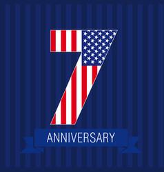 Anniversary 7 usa vector
